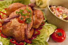 Traditional  food with chicken. Taesty traditional food with chicken and vegetables Royalty Free Stock Images
