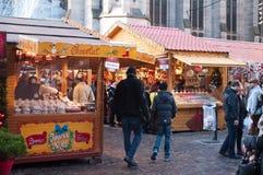 Traditional food christmas market Royalty Free Stock Image