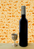 Traditional food and drink for Jewish Passover Stock Images