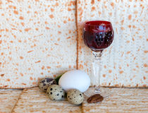 Traditional food and drink for Jewish Passover Stock Photography