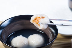 Chinese glutenous rice ball Royalty Free Stock Images