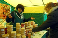 Traditional Food Fair Stock Photo