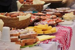 Traditional food. Traditional hungarian food on the winter end carnival royalty free stock images