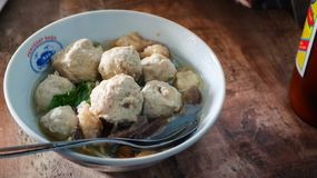 Bakso meat ball. Traditional food of indonesia bakso meat ball royalty free stock images