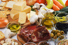 Traditional food ingredients Royalty Free Stock Images