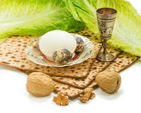 Traditional food of Jewish Passover holiday Stock Photography