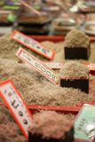 Traditional food market in Japan. Royalty Free Stock Photos