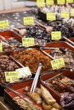Traditional food market in Japan. Stock Images