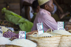 Traditional food market in Zanzibar, Africa. Traditional food market in Zanzibar, Africa stock photography