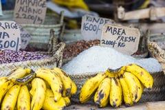 Traditional food market in Zanzibar, Africa. Royalty Free Stock Photo