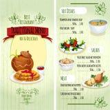 Traditional Food Menu Stock Images