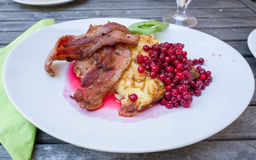 Traditional food on Oland, Sweden Royalty Free Stock Images