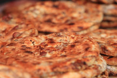 Traditional food roasted beef pizza (meat nang) in xinjiang Stock Photos