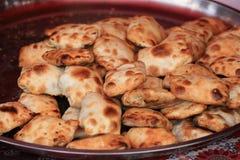 Traditional food roasted stuffed bun (kaobaobi) in xinjiang Royalty Free Stock Photo