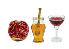 Traditional food for Rosh Hashanah - Jewish New Year Stock Images