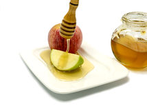 Traditional food for Rosh Hashanah - Jewish New Year Stock Photo