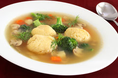 Matzo ball soup Royalty Free Stock Photography
