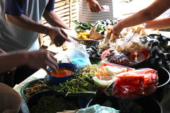 Traditional Food Stalls at the Sprawling Klungkung Market Stock Photography