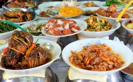 Traditional food in the street of Ho Chi Minh city, Vietnam Stock Photos