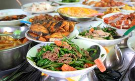 Traditional food in the street of Ho Chi Minh city, Vietnam Stock Photo