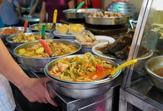 Traditional food at the street food market in Vietnam, Ho Chi Minh city Stock Photos