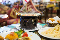 Traditional food in a Turkish restaurant Royalty Free Stock Images