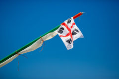 Traditional Four Moors flag of Sardinia Stock Photo
