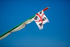 Traditional Four Moors flag of Sardinia Stock Photo