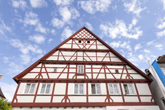 Traditional frame house in Germany. Traditional half-timbered frame house in bavarian town Gunzburg, Germany Royalty Free Stock Photo