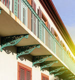 Traditional French balcony Royalty Free Stock Photography
