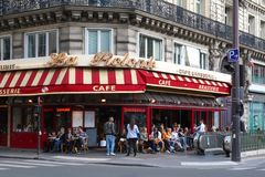 The traditional French brasserie La Rotonde, Paris, France. Royalty Free Stock Images