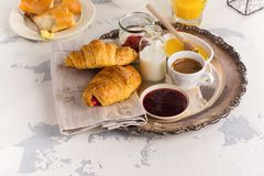 Traditional french breakfast Royalty Free Stock Image