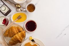 Traditional french breakfast Stock Image
