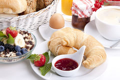 Traditional french breakfast croissant  Royalty Free Stock Photos