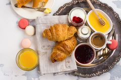 Traditional french breakfast Royalty Free Stock Photography