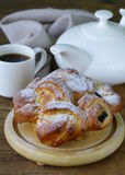Traditional French brioche pastry Stock Photos