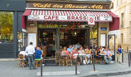 The traditional French  cafe des Beaux arts, Paris, France. Stock Photos