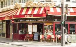 The traditional french cafe La Rotonde Trinite, Paris, France. Royalty Free Stock Image