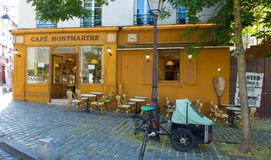 The traditional french cafe Montmartre, Paris, France. Royalty Free Stock Photo