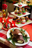 Traditional French Christmas Table Royalty Free Stock Photos