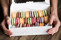 Traditional french colorful macarons Royalty Free Stock Photos