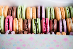 Traditional french colorful macarons Stock Photo