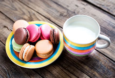 Traditional french colorful macarons Royalty Free Stock Images