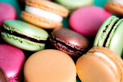 Traditional french colorful macarons Royalty Free Stock Photography