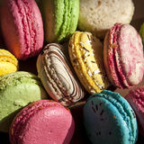 Traditional french colorful macarons Stock Photos
