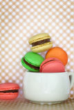 Traditional french colorful macaroons Royalty Free Stock Photo
