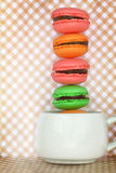 Traditional french colorful macaroons Royalty Free Stock Photos