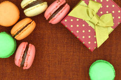 Traditional french colorful macaroons Royalty Free Stock Images