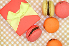 Traditional french colorful macaroons Stock Photo