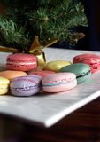 Traditional french colourful macaroons royalty free stock images